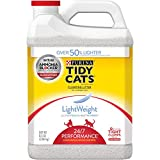 Tidy Cats Purina Lightweight Clumping Litter 24/7 Performance for Multiple Cats 8.5 lb. Jug- 3 Pack