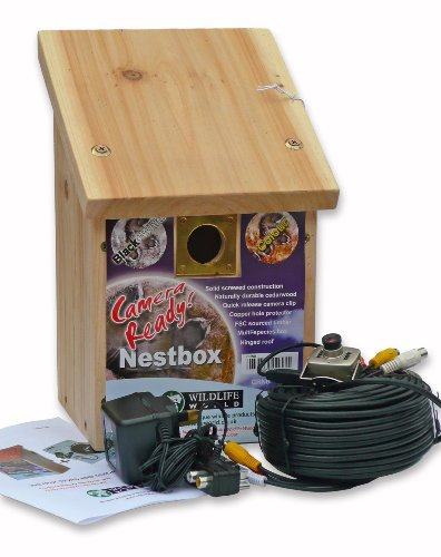 Garden Secrets Cedar Bird Nest Box and Camera kit