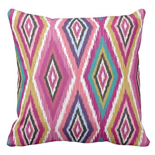Kissen deckt Dekorative 45x 45cm Farbe Pop Ikat Geometrische Überwurf Kissen für Couch quadratisch Kissen mit Reißverschluss Leinwand Kissenbezüge