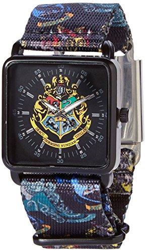 HARRY POTTER Reloj de Pulsera Escudo de Armas de Hogwarts con Banda Textil Análogo analógico