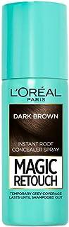 L'Oréal Paris Magic Retouch Temporary Root Touch Up Hair Colour Spray, Shade 2 Dark Brown, 75ml