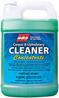 Malco Carpet and Upholstery Cleaner Concentrate, Removes Ground-in Soils and Stains from Automotive and Residential Carpet & Upholstery, 1 gallon (101801)