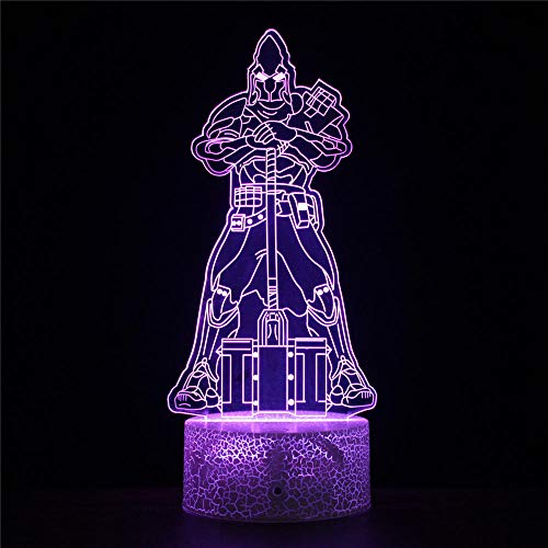Fortnight Luz Nocturna Infantil lámpara de noche Luz Noche Infantil 3D Led Luz de noche USB Visual Luz de noche creativa para niños Lámpara de mesa de regalo Luz de noche para bebés
