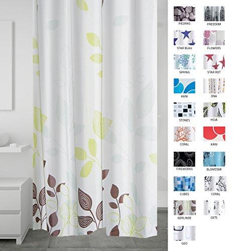 RIDDER 403090 Duschvorhang Textil ca. 180 x 200 cm, Gerlinde