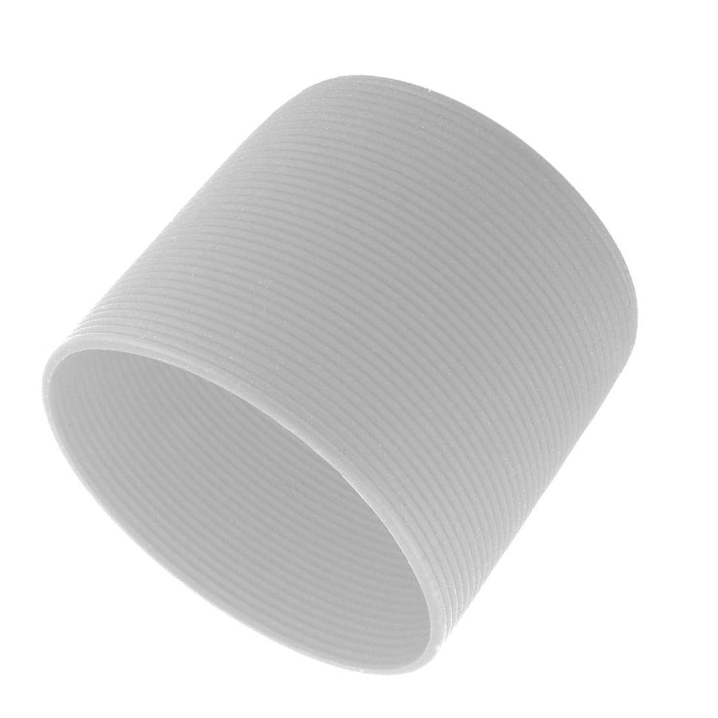 食用不幸高めるuxcell カップスリーブ シリコーン 再使用可能 耐熱 滑り止め ガラス瓶 カップ グレー 6cm 直径