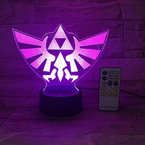 3D Nachtlicht Zelda Legend Dreieck 3D Usb Led Nachtlicht 7 Farben Illusion Licht Touch Oder Fernbedienung Kinder Leben Schlafzimmer Tischlampe