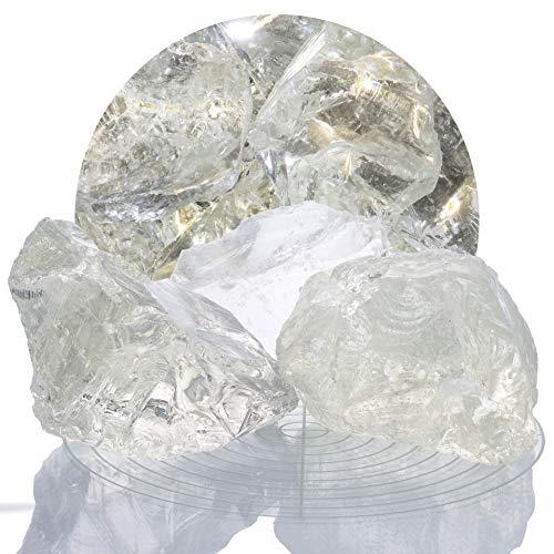 Schicker Mineral Bunte Glasbrocken Gabionen 10 kg, Glassteine 80-120 mm aus Deutschland, Glasbruch in vielen Farben (Klar)