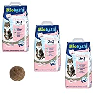 WITH SPECIAL MIX OF BENTONITE GRANULE sizes with disinfectant for high quality clumping VIRTUALLY DUST FREE, the fresh granules dont stick to your cats paws so they wont leave a trail of litter behind them CLUMPS CAN BE EASILY AND SAFELY disposed of ...