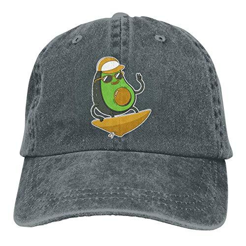 iuitt7rtree Gorra de viaje que absorbe la humedad, gorra de cráneo de secado rápido, gorra de hip-hop, surf, aguacate, jeanet, gorra de béisbol ajustable