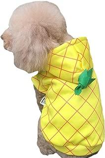 Delifur Pineapple Dog Costume Dog Halloween Costume for Small to Medium Dogs
