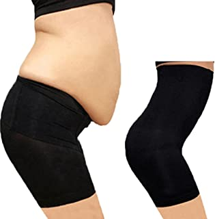 2 Pack Women Lace Padded Seamless Butt Hip Enhancer Panties Underwear Total Leak Proof Protective Briefs - Incontinence Period Panties Flesh and Black XL