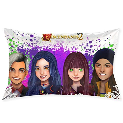 ytuytiutfi Descendants 2 Decorative Pillow Cases Bedroom Pillow Cases 20 X30 Inch, Cushion Covers for Sofas, Sofas and Beds