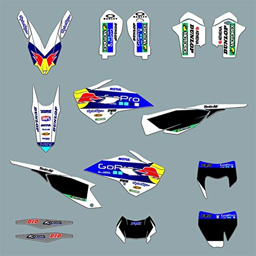 Motocross Pegatinas TE FE TC FC 2014 2015 Equipo gráfico Fondos Adhesivos Pegatinas for la Husqvarna 125 150 250 350 450 501 TE TC FE FC