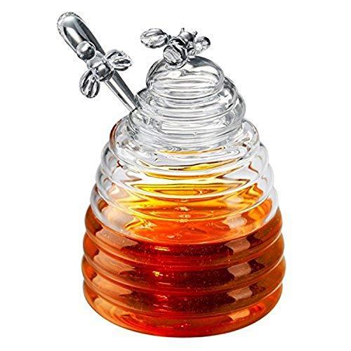 Honey Bees Bote para Miel de Cristal