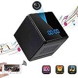 Réveil Caméra Espion WiFi LXMIMI Caméra Cachée sans Fil avec Enceinte Bluetooth, 1080P HD, Vision Nocturne, Détection de Mouvement, Contrôle des Applications & Visualisation à Distance pour Intérieur