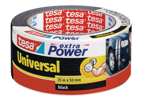 tesa 04612-00001-00 Cinta americana, 25 m x 50 mm, color negro