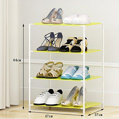 Chaussure Rack Simple de Stockage de Plusieurs étages, Moderne Minimalist résine de ménage Rack de en Plastique, Easy Assembly Shoe Cabinet (Taille : 47 * 37 * 44cm)