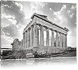 Akropolis in Athen Kohle Effekt, Format: 60x40 auf