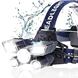Headlamp, 13000LM Brightest 21 LED 9 Modes Head Lamp with Unique Power...