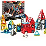 FAO Schwarz 150 Piece Magnetic Tiles Set, Engineering STEM Toy Kit
