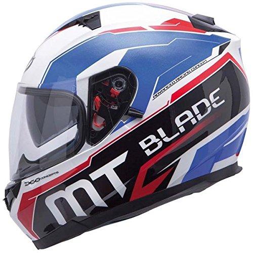 Casco integral Blade SV Super R s–blanco/azul/rojo, tallaS–MT Helmets