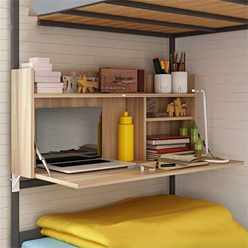Folding shelf Mesa Plegable Mesa Multifuncional Litera Cama Dormitorio Mesa de Ajuste...