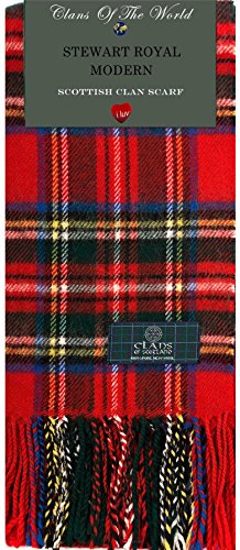 I Luv Ltd Stewart Royal Modern Tartan Clan Scarf 100% Soft Lambswool