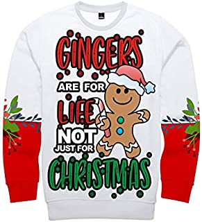 CWSY Unisex Christmas Jumper Funny 3D Printed Xmas Pullover Sweatshirt Long Sleeve Sweater T-Shirt for Men Women XS-4XL
