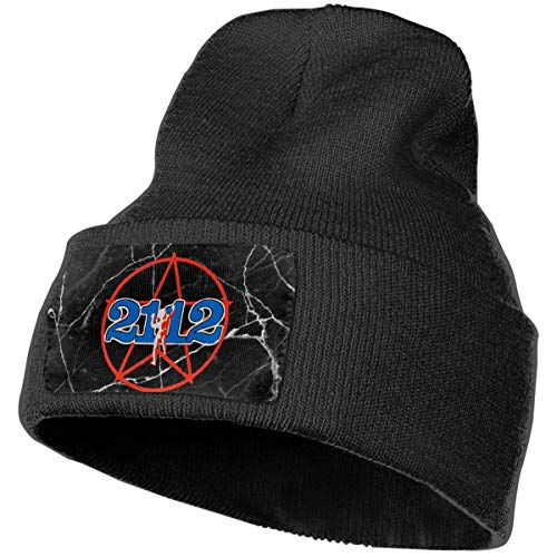COLLJL-8 Men/Women Neil Peart Outdoor Warm Knit Beanies Hat Soft Winter Skull Caps Black