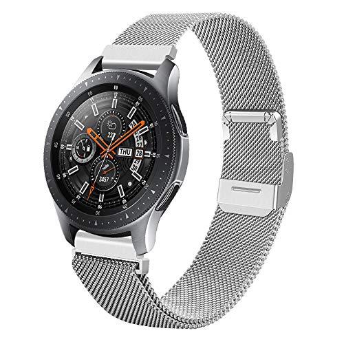 Coholl Correa Compatible con Watch Correa 40mm, 42mm 44mm,Ajustable Pulseras de Acero Inoxidable 20mm watch de Samsung Pulsera de Repuesto Correa de ,Hombres,Mujeres/Plata