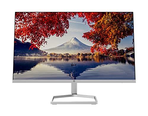 HP M24f Monitor (display da 24 pollici, Full HD IPS, 75 Hz, AMD FreeSync, VGA, HDMI 1.4, tempo di risposta 5 ms, HP Low-blue-light), argento