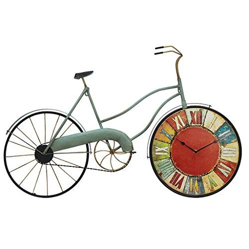 FPigSHS Orologio da Parete 5 Stili Campana Pendolo Romano Numeri Decorazione Vintage Ferro Arte Decorazione Bicicletta Facendo Una Vecchia Bici (Colore : A)