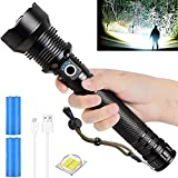Smart Light - Sf 4400 Pro Flashlight,Waterproof Laser Military Flashlight,Ultra-Powerful - High Lumens XHP70.2 LED,Zoomable, 5 Light Modes,for Travel Hiking,Camping Outdoor (Style C)