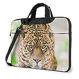 Bolso para portátil con Estampado de Leopardo, maletín de Hombro para Negocios
