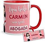 Kembilove Tazas de Café Personalizadas de Profesiones – Taza de Desayuno Aquí Bebe una Gran Abogada con Nombre Personalizado – Tazas de Desayuno para Profesionales – Tazas de 350 ml