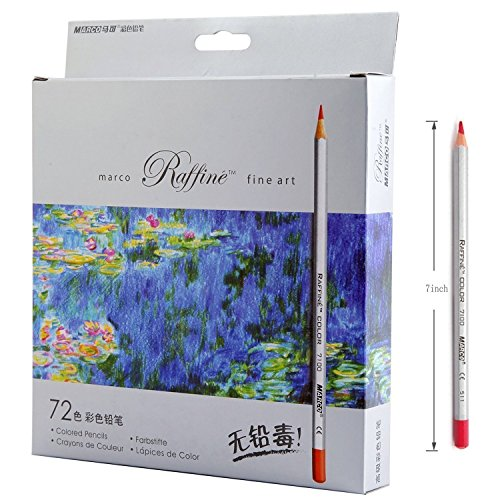 Lanxivi 72 Marco Colored Pencils with Pen Pouch Set/Color Professional Art Drawing Pencils for Artist Sketch Drawing Oil Base Drawing