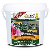 ZOOFUX Profi Gartenteich Fadenalgenvernichter EXTRA (Schneller Algenvernichter, Algenentferner, Algenmittel ohne Kupfer + Schwermetalle - Fadenalgen preiswert direkt vom Hersteller), Inhalt:2.5 kg
