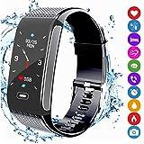Fitness Armband Tracker Sportuhr Aktivitätstracker Schrittzähler mit Farbanzeige Pulsmesser...