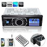 Elegiant - Sistema de audio estéreo para coche, reproductor FM, MP3,WMA, USB, SD, MMC, AUX, entrada, receptor y mando integrados.