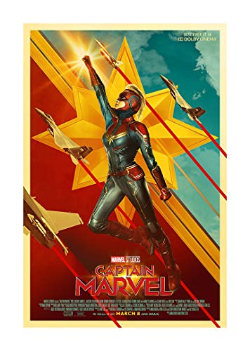 Captain Marvel (Brie Larson, 2019) International Dolby Cinema Movie Poster (Version 3) - Size 24'X36' - This is a Certified Poster Office Print with Holographic Sequential Numbering for Authenticity.
