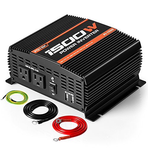 POTEK 750W Car Power Inverter DC 12V to 110V Dual AC Charging Port /& 2A USB Port
