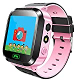 Smartwatch BambiniLBS per Bambini, Touch Screen, Chat vocale, Chiamata, Sveglia, Fotografia a Distanza, Recinzione geografica, Regali per Ragazzi e Ragazze Orologio per Bambini,Rosa