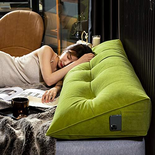 lijingaa Großes Dreieckiges Kissen,Komfort Tatami Kopfteilkissen,Rückenlehne Doppelbett,Großes Lesekissen Für Erwachsene Mit Großer Rückenlehne