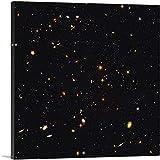 ARTCANVAS Original NASA Hubble Telescope Ultra Deep Field Space Photograph Canvas Art Print - 26' x 26' (1.50' Deep)