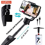 FILMTACY 3-Axis Gimbal Stabilizer, Professional Smartphone Stabilizer for Vlog YouTube Live Video, Extended and Foldable, for iPhone 11 Xs Max Xr X 8 7 6 Plus Samsung Note 10 S10 S9 S8 and Android