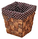 Cesta de residuos de ratán redonda, cestas de almacenamiento...