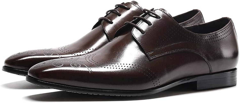 MISS&YG Bullock Herrenschuhe British Wind Men Es Business schuhe Mode Dress Derby Schuhe