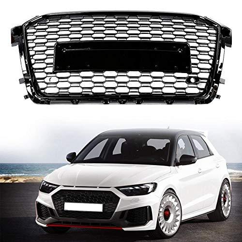 XDDXIAO Griglia per Auto Griglia Nera per Paraurti Anteriore Griglia per Audi RS1 2015 2016 2017 2018 Car Styling