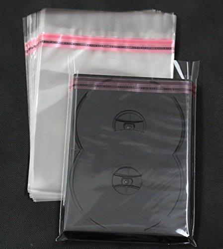 Steelbook Box Schutzhüllen DVD Case Verpackung aus Folie mit Klappe und Adhäsionsverschluss bis 15 mm Cover (100 St.)