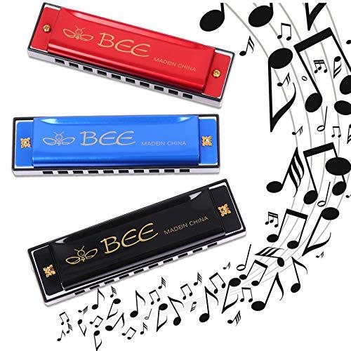 3 Pieces Harmonicas, 10 Holes 20 Tones Mouth Organ Diatonic Harmonica for...